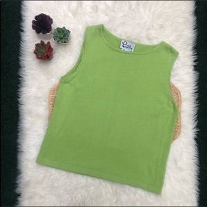Lilly Pulitzer Green Tank Shell